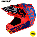 MX helma TroyLeeDesigns SE4 Composite Factory Orange 2018