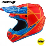 MX helma TroyLeeDesigns SE4 Composite Metric Honey Orange 2019 + brýle zdarma