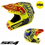 MX helma TroyLeeDesigns SE4 Carbon Factory Yellow 2017