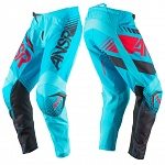 MX kalhoty ANSWER Syncron Pant Cyan Red 2017