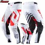 MX kalhoty ANSWER Trinity Pant White Red 2018