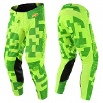 MX kalhoty TroyLeeDesigns GP Pant Maze Flo Yellow Green 2018