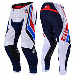 MX kalhoty TroyLeeDesigns SE Air Pant Seca White Dark Navy 2020