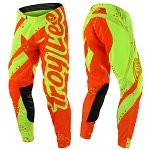 MX kalhoty TroyLeeDesigns SE Air Pant Shadow Flo Yellow Orange 2018