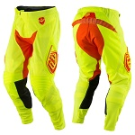 MX kalhoty TroyLeeDesigns SE Air Pant Starburst Flo Yellow Orange 2017