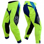 MX kalhoty TroyLeeDesigns SE Pant BETA Flo Yellow Blue 2019