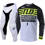 MX komplet TroyLeeDesigns GP Air Mono Bolt White Flo Yellow 2019