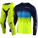MX komplet TroyLeeDesigns GP Air Stain´D Navy Yellow 2020