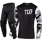 MX komplet TroyLeeDesigns GP Camo White Black Set 2020