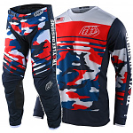 MX komplet TroyLeeDesigns GP Formula Camo Navy Red Limited Edition 2021