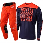 MX komplet TroyLeeDesigns GP Mono Raceshop Orange Navy Set 2019