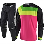 MX komplet TroyLeeDesigns GP Prisma Black Flo Pink Set 2018