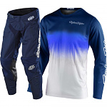 MX komplet TroyLeeDesigns GP Stain´D Navy White Set 2020
