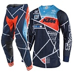 MX komplet TroyLeeDesigns SE AIR Metric KTM Team Navy Orange 2018