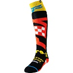 MX ponožky FOX FRI Thin Sock Czar Black Yellow 2019