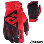MX rukavice ANSWER AR-1 Glove Red Black 2018