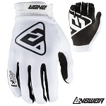 MX rukavice ANSWER AR-3 Glove White 2019