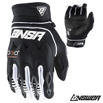 MX rukavice ANSWER AR-5 Glove Black White 2018