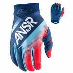 MX rukavice ANSWER Elite Glove Blue Red 2017