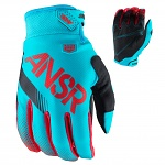 MX rukavice ANSWER Syncron Glove Cyan Red 2017