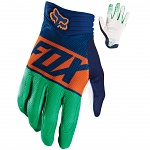 MX rukavice FOX Divizion Airline Orange Glove Blue 2016