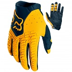 MX rukavice FOX Pawtector Glove Navy Yellow 2019