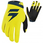 MX rukavice SHIFT Whit3 Air Glove Yellow Navy 2019