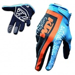 MX rukavice TroyLeeDesigns KTM Team AIR Glove Navy Cyan 2017