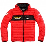 Pánská bunda 100% Geico Honda Mode Hooded Jacket Red