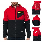 Pánská bunda 100% Geico Honda Technique Hooded Softshell Jacket Red