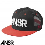 Pánská čepice ANSWER Rev Mesh SnapBack Hat Black Red