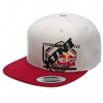 Pánská čepice KINI RedBull Slanted SnapBack Hat Light Grey Red