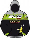 Pánská mikina BudRacing Team BUD Rockstar Zip Hoody Black Green