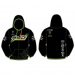Pánská mikina BudRacing Team Monster Energy Zip Hoody Black 2016