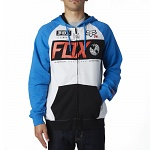 Pánská mikina FOX Maneuver Zip Fleece Heathe Blue