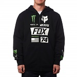 Pánská mikina FOX ProCircuit Monster Union Zip Hoody Black