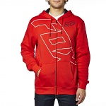 Pánská mikina FOX Spyr Zip Fleece Flame Red