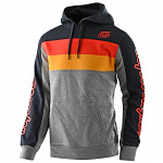 Pánská mikina TroyLeeDesigns Block Signature Pullover Hoodie Heather Gray Orange