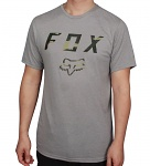 Pánské tričko FOX Cyanide Squad SS Tech Tee Heather Dark Grey