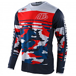 Pánský dres TroyLeeDesigns GP Jersey Formula Camo Navy Red Limited Edition 2021