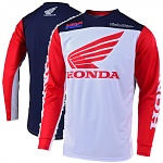 Pánský dres TroyLeeDesigns GP Jersey Honda White Red Navy 2019