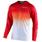 Pánský dres TroyLeeDesigns GP Jersey Stain´D Red White 2021