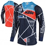 Pánský dres TroyLeeDesigns SE AIR Jersey Metric Team KTM Navy Orange 2019