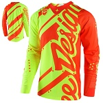 Pánský dres TroyLeeDesigns SE AIR Jersey Shadow Flo Yellow Orange 2018