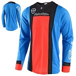 Pánský dres TroyLeeDesigns SE AIR Jersey Squadra Cyan Orange 2018
