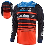 Pánský dres TroyLeeDesigns SE AIR Jersey Streamline Team KTM Navy Orange 2018