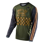 Pánský dres TroyLeeDesigns Super Retro Jersey Check Army Green 2017