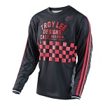 Pánský dres TroyLeeDesigns Super Retro Jersey Check Black Red 2017