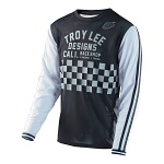 Pánský dres TroyLeeDesigns Super Retro Jersey Check Black White 2017