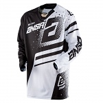 Pánský MX dres ANSWER Elite Jersey Black White 2018